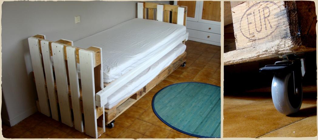 proyectos personales cama nido con pal s d a n g a. Black Bedroom Furniture Sets. Home Design Ideas