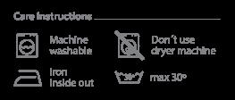 Danga care instructions organic cotton hand painted