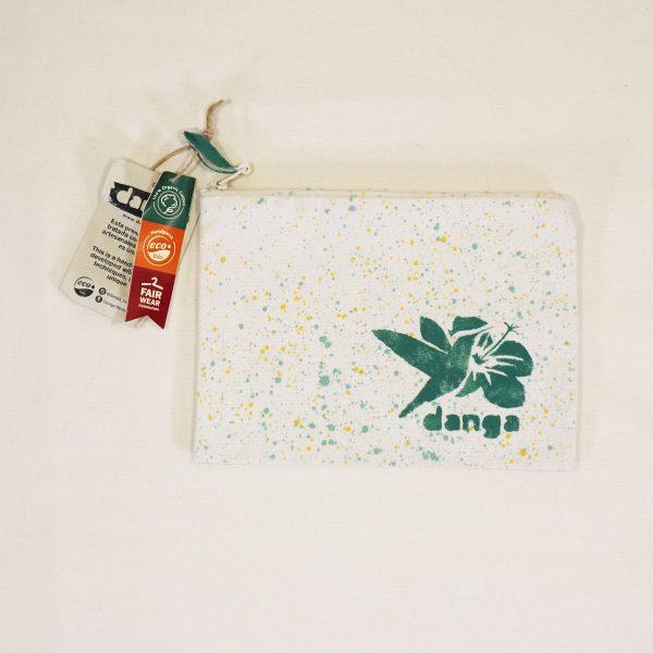 Danga organic cotton hibiscus pencil case